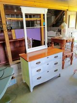 1880's honey tiger oak dresser with rack in Cherry Point, North Carolina