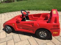 Pedal Ferrari F40 kids car for 1 to 3 year old in Naperville, Illinois