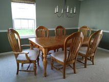 Dining table, 6 chairs, buffet and hutch in Aurora, Illinois