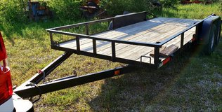 Car trailer, 16'  double axle, electric brakes, tires excellent, bed new 2 years ago in Fort Riley, Kansas
