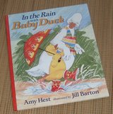 Vintage 1995 In The Rain with Baby Duck Over Sized Hard Cover Book w Dust Jacket in Joliet, Illinois