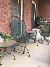PATIO SET/  2 seat GLIDER / swival chair/ 2 end tables in Fort Campbell, Kentucky