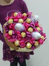 Bouquet of sweets. Sweets bouquet Ferrero Rocher in Ramstein, Germany