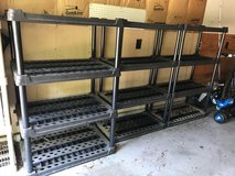 3 Plastic Vented/Free Standing Garage Shelving Units in Houston, Texas