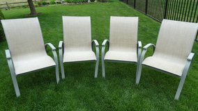 (4) stackable lawn chairs in Yorkville, Illinois