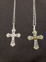 FASHION CROSS NECKLACE (GREEN OR CLEAR) in Fort Campbell, Kentucky
