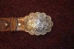 Circle Y Leather Belt with a Montana Silversmiths Buckle in Alamogordo, New Mexico