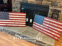 Rustic American Wood Flag in Fort Campbell, Kentucky