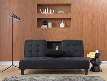 NEW! SLEEK STYLING SUEDE BLACK SOFA BED SLEEPER LOUNGER in Camp Pendleton, California