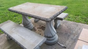 concrete Table and Bench set in Fort Meade, Maryland