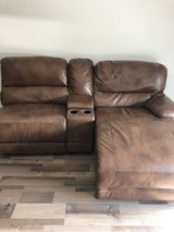 Leather Sectional Couch in Wiesbaden, GE