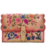 ***PATRICIA NASH***Prairie Rose Embroidered Colli Wallet in Kingwood, Texas