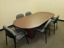 Office conference table and 6 chairs in Orland Park, Illinois
