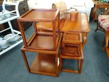 Set of 4 Wood Square Nesting Tables in Chicago, Illinois