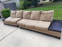 2 piece sectional brown sofa in Lackland AFB, Texas