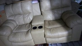 leather tan recliner sofa in Lackland AFB, Texas