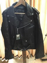 Men's Leather Motorcycle Jacket NEW in Glendale Heights, Illinois