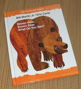 Briwn Bear Brown Bear What Do You See Over Sized Hard Cover Book 40th Anniversary Edition in Oswego, Illinois