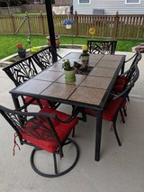 Patio table and 6 chairs in Yorkville, Illinois