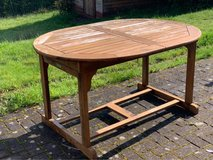 wooden patio table in Ramstein, Germany
