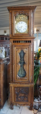 Breton grandfather clock with Comtoise works in Spangdahlem, Germany