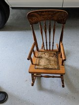 antique child's rocking chair in Kingwood, Texas