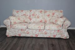 Flower Pattern Sofa with accent Pillows in CyFair, Texas