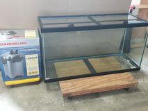 90 gallon aquarium with canister filter in Yorkville, Illinois