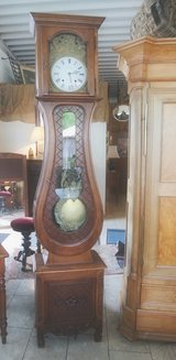 Gorgeous grandfather clock with Comtoise works in Ramstein, Germany