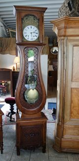 gorgeous grandfather clock with Comtoise works in Spangdahlem, Germany