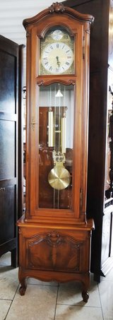 beautiful grandfather clock with walnut case in Ramstein, Germany