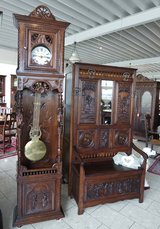beautiful grandfather clock from Brittany with open case in Spangdahlem, Germany