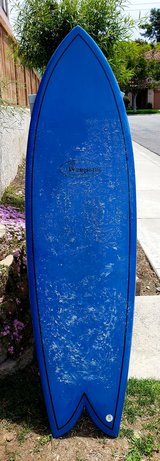 """6'4"""" epoxy quad fin in great condition with padded bag in Camp Pendleton, California"""