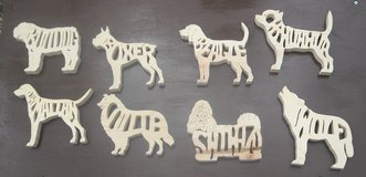 Dog cut outs Wooden in Fort Riley, Kansas