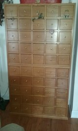 Apothocary chest for CD storage and TV stand in Camp Lejeune, North Carolina