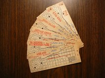 CHICAGO SURFACE LINES 1934 STREETCAR TRANSFERS •• SET of 6•• in Joliet, Illinois