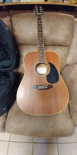 Acoustic guitar with case in Clarksville, Tennessee