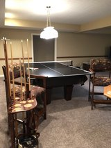 Pool Table / Pool Cues / 2 Chairs / Ping Pong Accessory in Fort Knox, Kentucky
