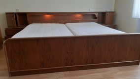 Complete set of kings size bed with inbuilt light in Ramstein, Germany