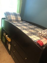 Loft bed with stairs/mattress/multi dresser in Fort Campbell, Kentucky