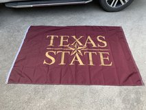 Texas State college flag in Baytown, Texas