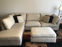 Reversible 2 piece sectional w/ ottoman in Byron, Georgia