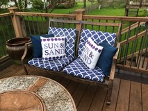 Patio loveseat, 2 chairs, fire pit/screen in Naperville, Illinois