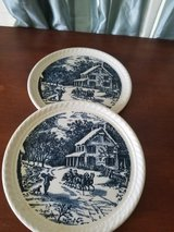 Made in the USA antique plates in Kingwood, Texas