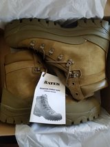 New Army combat boots in the box. Bates Mountain Combat Boot (temperate weather). Size 10.5 regular in Clarksville, Tennessee