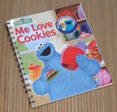Vintage 2004 Sesame Street Me Love Cookies Cookie Monster Spiral Bound Soft Cover Book in Morris, Illinois
