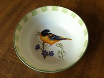 "Lenox Summer Greetings Cereal Bowl; McClung Baltimore Oriole; 2.5"" Deep EUC: in Cherry Point, North Carolina"