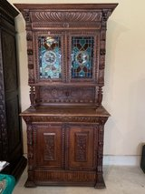 Rare Antique Flemish/Mechelen Hutch 1900-1920 in Lackland AFB, Texas
