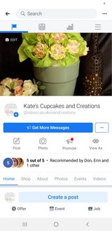 Kate's Cupcakes and Creations in home baking/cake decorating in Fort Leonard Wood, Missouri