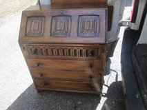 ANTIQUE SOLID OAK BUREAU in Lakenheath, UK